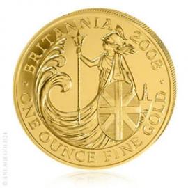 1 oz Gold, 100 Pounds Britannia verschiedene Jahrgänge