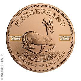 1 oz Gold Krügerrand verschiedene Jahrgänge