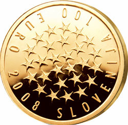 Anlagegold24 Slowenien 100 Euro Ratspr�sidentschaft 2008 PP