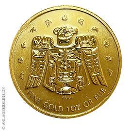 1 oz Gold, 50 Dollar Maple Leaf 2009, Vancouver 2010 Privy Mark
