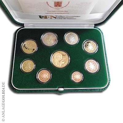 Vatikan Euro Kurssatz 2018 Pp Mit 50 Euro Goldmünze